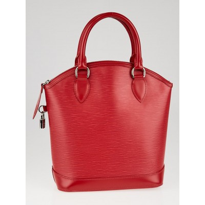 Louis Vuitton Red Epi Leather Lockit Bag