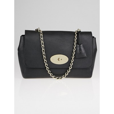Mulberry Black Grainy Leather Medium Lily Bag
