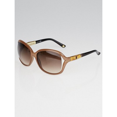 Gucci Taupe Frame Bamboo Sunglasses-3671/S