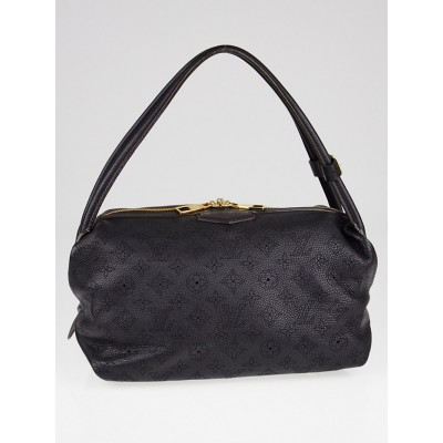 Louis Vuitton Black Mahina Leather Galatea PM Bag