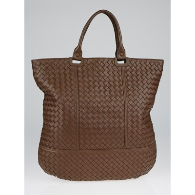 Bottega Veneta Truffle Intrecciato Woven Nappa Leather Shopper Tote Bag
