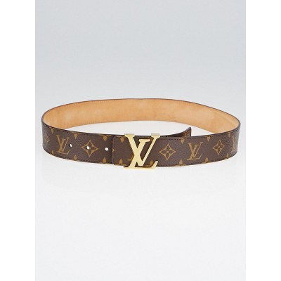 Louis Vuitton Monogram Canvas LV Initials Belt Size 80/32