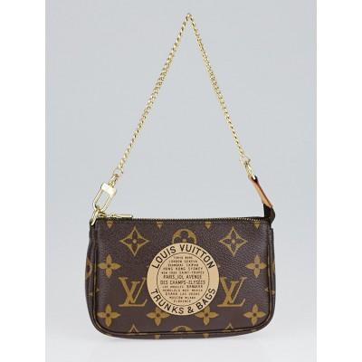 Louis Vuitton Limited Edition Monogram Canvas Trunks & Bags Mini Accessories Pochette Bag
