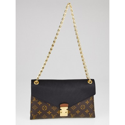 Louis Vuitton Black Monogram Canvas Pallas Chain Bag