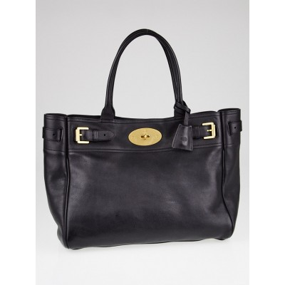 Mulberry Black Leather Bayswater Tote Bag
