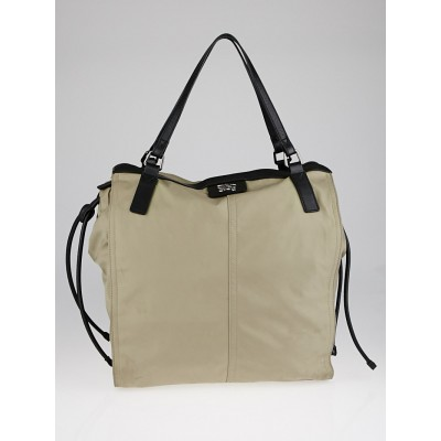 Burberry Taupe Nylon Tote Bag