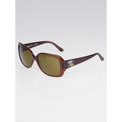 Chanel Brown Frame Square Frame CC Sunglasses-5101
