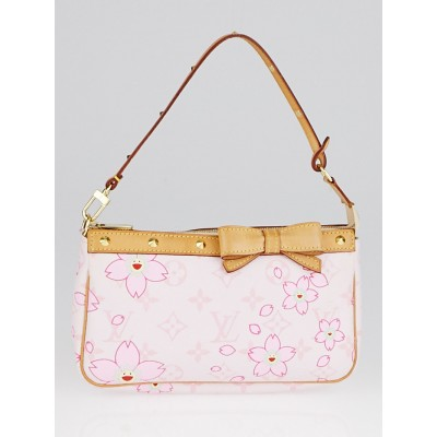 Louis Vuitton Limited Edition Pink Cherry Blossom Monogram Canvas Accessories Pochette Bag
