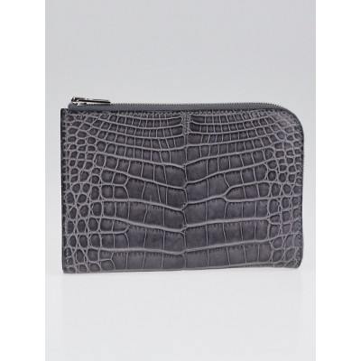 Hermes Gris Paris Alligator Remix Voyage Wallet