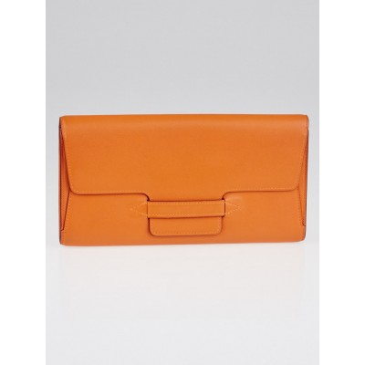 Hermes Orange Swift Leather Spiratek Travel Wallet