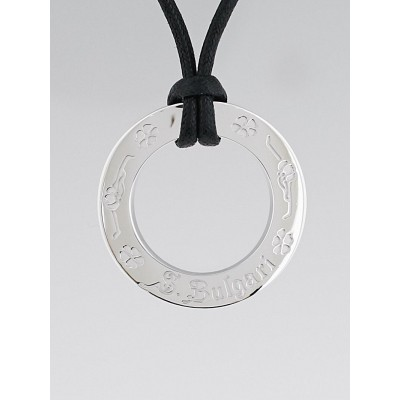 Bvlgari Sterling Silver 'Save the Children' Pendant Necklace