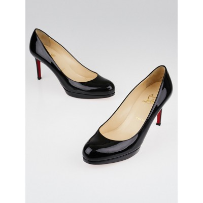 Christian Louboutin Black Patent Leather New Simple 85 Pumps Size 8/38.5