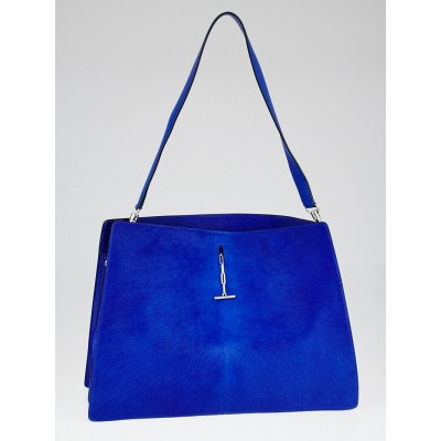Celine Royal Blue Pony Hair Medium New Shoulder Bag