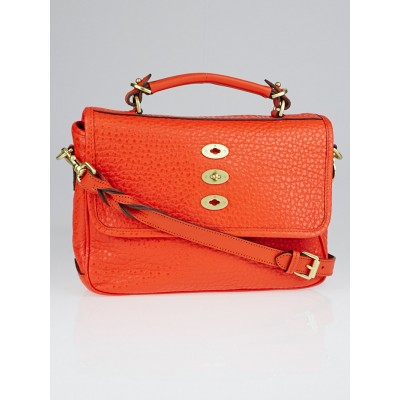 Mulberry Flame Shiny Grain Leather Bryn Bag