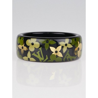 Louis Vuitton Black/Green Farandole Monogram Bangle Bracelet