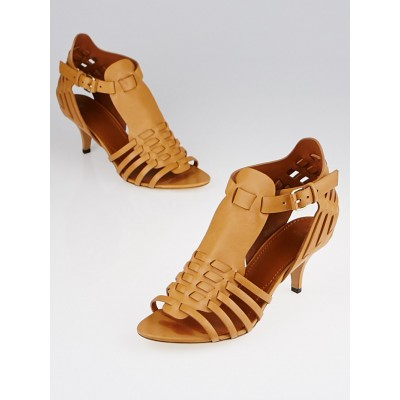 Givenchy Brown Leather Strappy Sandals Size 8.5/39