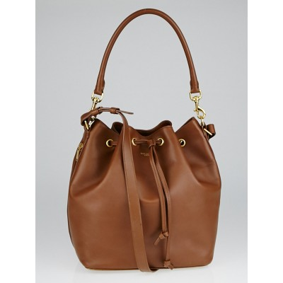 Yves Saint Laurent Brown Leather Seau Medium Bucket Bag