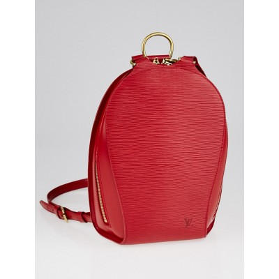 Louis Vuitton Rouge Tassil Epi Leather Mabillon NM Backpack Bag