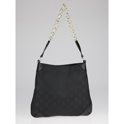 Gucci Black GG Canvas Chain Shoulder Bag