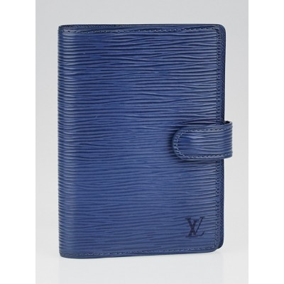 Louis Vuitton Myrtille Blue Epi Leather Small Ring Agenda/Notebook