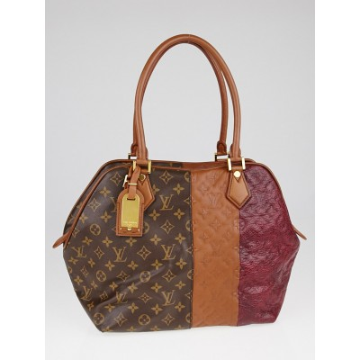 Louis Vuitton Limited Edition Bordeaux Monogram Blocks Zipped Tote Bag