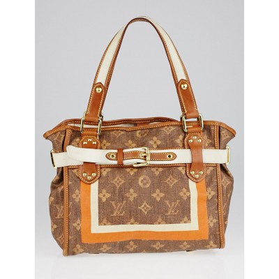 Louis Vuitton Limited Edition Monogram Tisse Rayures PM Tote Bag