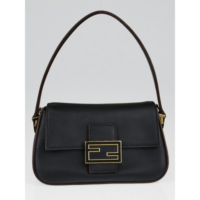 Fend Black Leather Mini Mama Forever Flap Bag 8BR180
