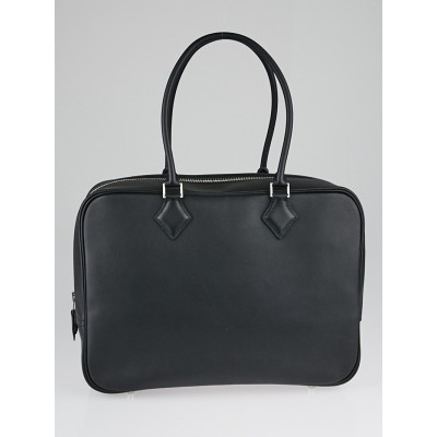 Hermes 32cm Black Swift Leather Plume Bag