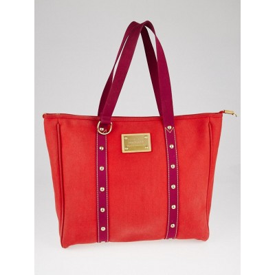 Louis Vuitton Limited Edition Rouge Toile Canvas Antigua Cabas GM Bag