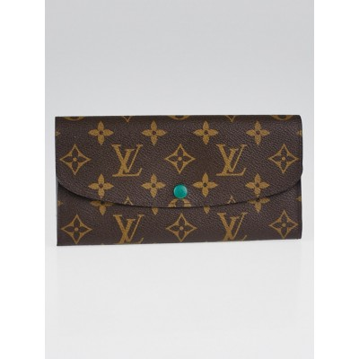 Louis Vuitton Monogram Canvas Green Emilie Wallet