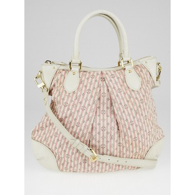 Louis Vuitton Red/White Mini Lin Croisette Marina PM Bag