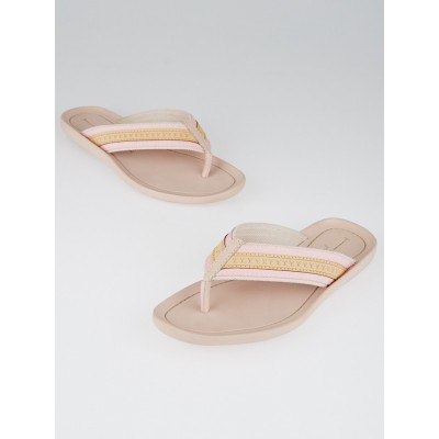 Louis Vuitton Pink Monogram Rubber Thong Sandals Size 8.5/39