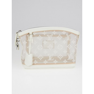 Louis Vuitton Limited Edition Monogram Transparence Lockit Clutch