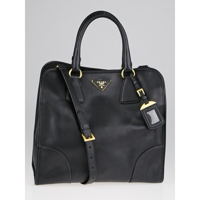 Prada Black Saffiano Lux Leather Tote Bag BN2254