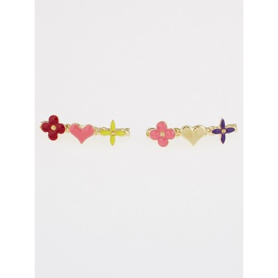 Louis Vuitton Multicolor Monogram Resin Sweet Barrettes