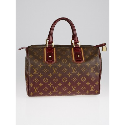 Louis Vuitton Limited Edition Bordeaux Monogram Mirage Speedy 30 Bag