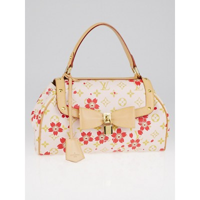 Louis Vuitton Limited Edition Red Cherry Blossom Sac Retro Bag