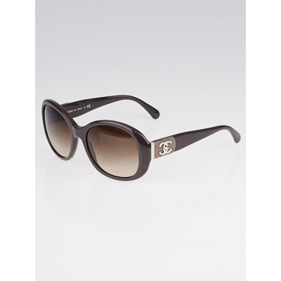 Chanel Taupe Frame Gradient Tint CC Turnlock Sunglasses-5235