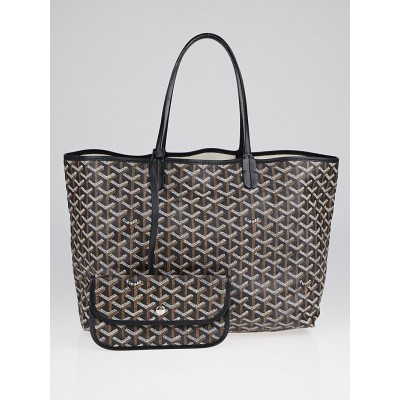 Goyard Black Chevron Print Coated Canvas St. Louis PM Tote Bag
