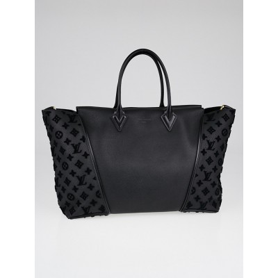 Louis Vuitton Black Orfevre and Veau Cachemire Calfskin Leather W GM Bag