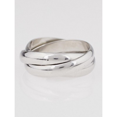 Cartier 18k White Gold Trinity Ring Size 51/5.75