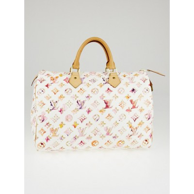 Louis Vuitton Limited Edition Richard Prince Monogram Watercolor Aquarelle Speedy 35 Bag
