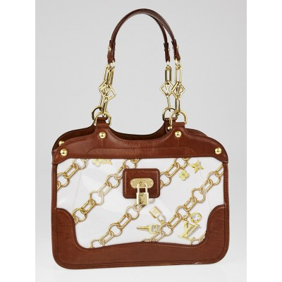Louis Vuitton Limited Edition White Monogram Charms Cabas Charms Bag