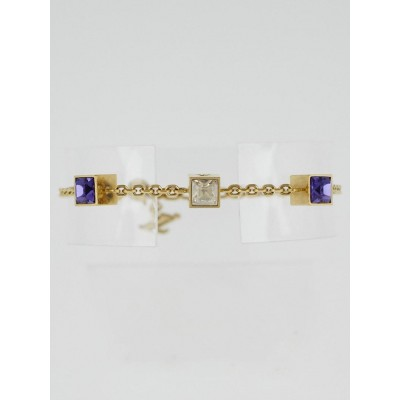 Louis Vuitton Multicolor Swarovski Crystal Gamble Bracelet