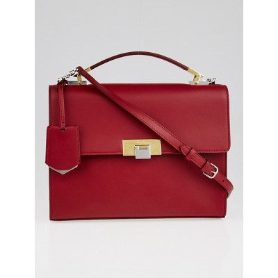 Balenciaga Red Calfskin Leather Le Dix New Cartable S Bag