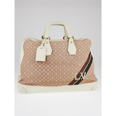 Louis Vuitton Camel Monogram Mini Lin Canvas Initiales Isfahan Carryall Bag