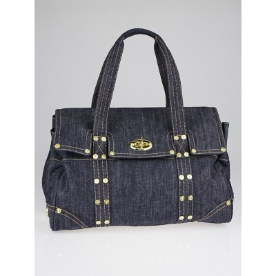 Mulberry Blue Denim Large Bayswater Bag