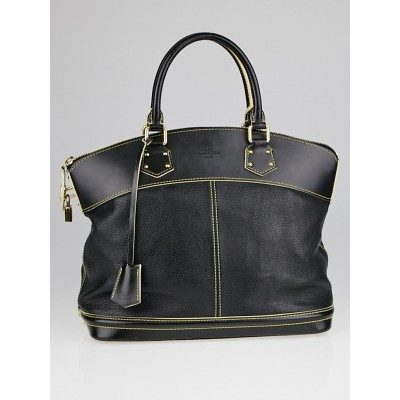 Louis Vuitton Black Suhali Leather Lockit MM Bag
