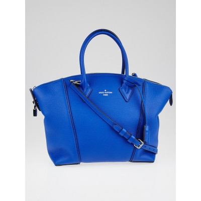 Louis Vuitton Blue Veau Cachemire Calfskin Leather Soft Lockit PM Bag