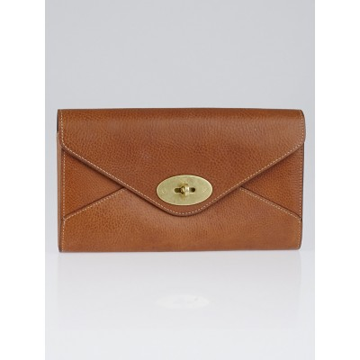 Mulberry Brown Leather Enveloped Locked Document Case